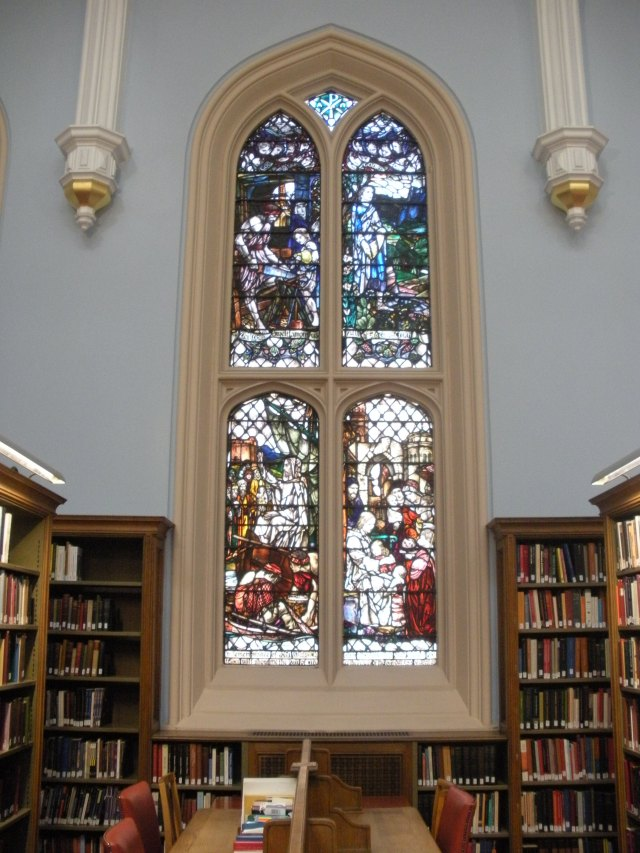 Beautiful Stained Glass at the New College Library